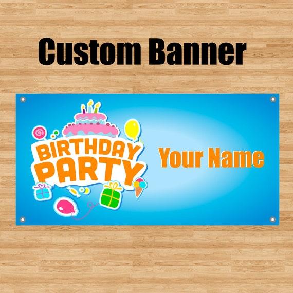 Custom Happy Birthday Banner Kids Girls By