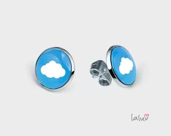 Mini stick earrings CLOUD