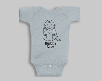 Baby Clothes - Buddha, Yoga Baby, Baby Girl, Buddha Baby Clothes, Baby Boy, Baby Girl, Baby Romper, Baby Shower Gift, Baby Gift, Baby Outfit