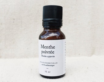 Peppermint: essential oil bottle - 15 ml