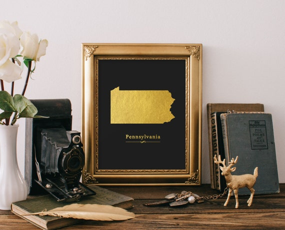 Items similar to penn state map penn state art print penn for Penn state decorations home