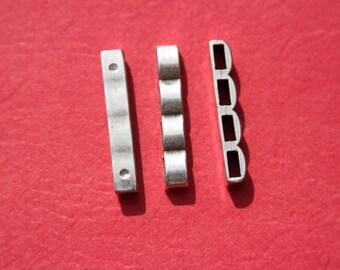 12/2 MADE in EUROPE 2 strands separators, bracelet component, bracelet finding, 4 strands separator(B1633AS) QTY.2