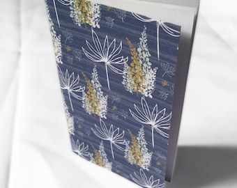 Floral Pocket Size Notebook, Garden Grace Pattern, mini notebook, pocketbook, small notebook
