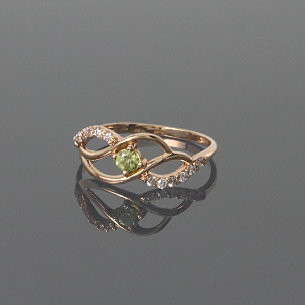 gold ring peridot gold simple ring gold by jewelryasteria