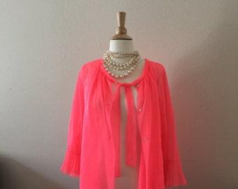 bright pink negligee