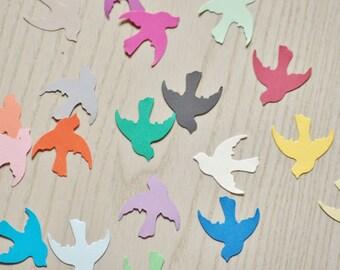 Dove Confetti - Pick your colors. Baby shower confetti, wedding confetti, bird confetti, dove bird.