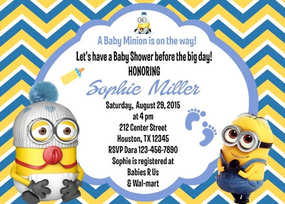 baby shower invitation minion boy baby shower invitation minion baby