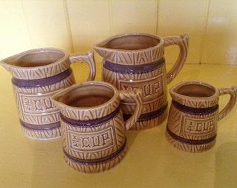 Vintage Measuring Cups, Barrel looking, Made in Japan