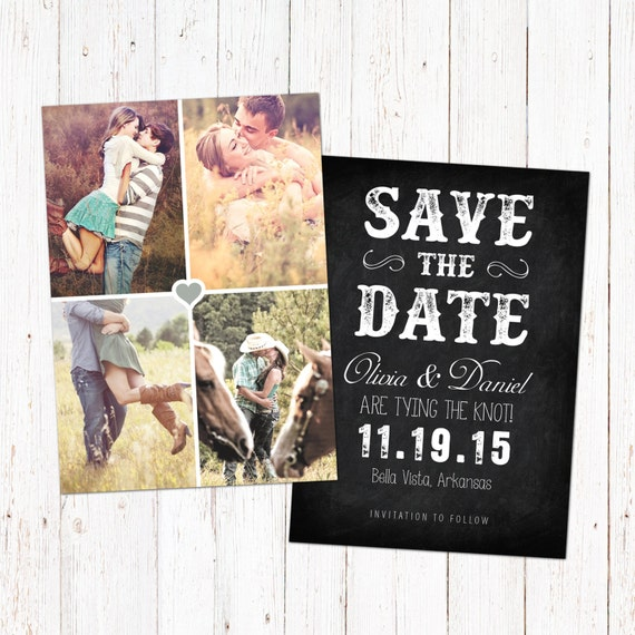 save the date template card digital engagement announcement. Black Bedroom Furniture Sets. Home Design Ideas