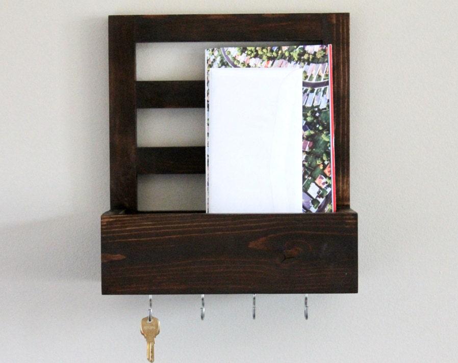 entryway organizer mail organizer key shelf key holder. Black Bedroom Furniture Sets. Home Design Ideas