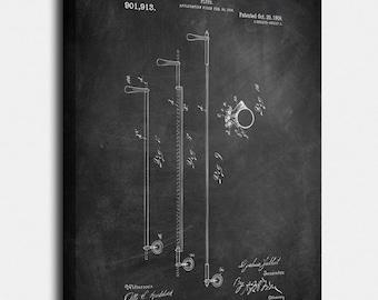 Flute Canvas Print, Flute Patent,  Vintage Art,  Blueprint,  Poster, PatentPrints, Wall Art, Decor [MU21-2C]