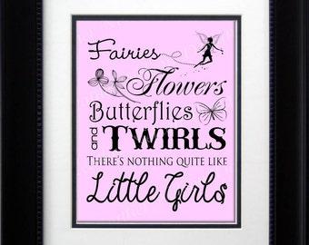 Nothing Like Little Girls Nursery Print- DIGITAL