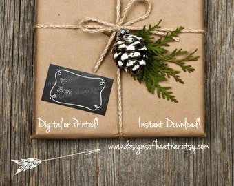 Chalkboard Gift Tags or Stickers