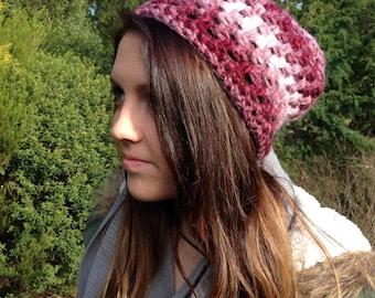 Women's Soft, Two-Toned Crochet Beanie