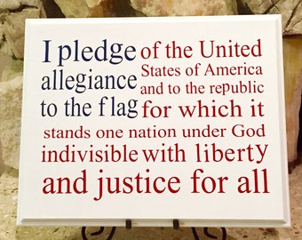 Pledge of allegiance board