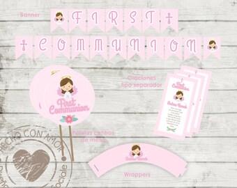 First Communion girl snap Kit
