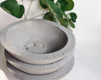 Concrete Bowl, Succulent Planter, Cement Bowl