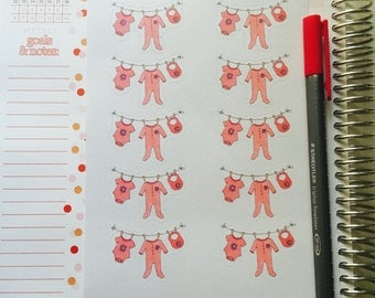 Baby Laundry Planner Stickers