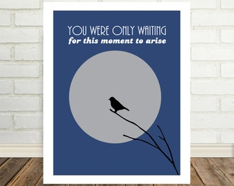 Blackbird The Beatles Song Lyric Art You Were Only Waiting For This Moment To Arise Graduation Gift Music Poster Gift Under 20 Song Art