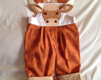 Little University of Texas Longhorns Fan Bib Overalls