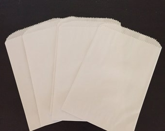 White Paper Party Favor Bags