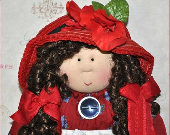 "Little Souls Doll, Little Souls Swanky, Little Souls Deana 24"", Gretchen Wilson, Cloth Dolls, One-Of-A-Kind, Dolly Mama, Ooak"