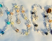 Wrist/Ankle Bracelets, Adjustable, Bead and Chain  with Charm Dangle