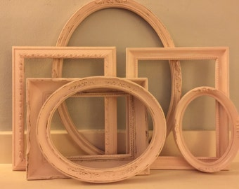 So This Is Love, Collection 3, ShabbyChic, Distressed Pink Picture Frames