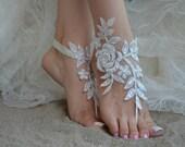 5 pairs Free Ship Beach wedding barefoot sandals Beach shoes, bridal sandals, lace sandals, wedding bridal, ivory accessories, summer wear