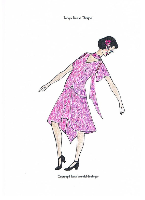 1920s Patterns – Vintage, Reproduction Sewing Patterns Tango Dress Phryne - PDF Pattern Size US6/UK10/DE36 and US8/UK12/DE38 $16.37 AT vintagedancer.com