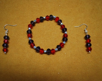 Red Hat Society Jewelry - Bracelet and Earrings