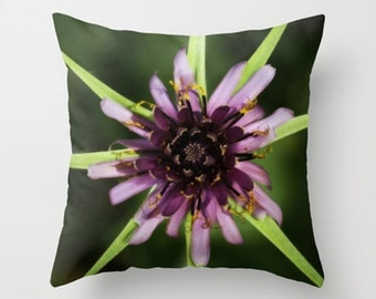 Flower pillow, flower cushion, green, pink, photography pillow, photo cushion, green pillow, unique, pillow cover, cushion cover, floral