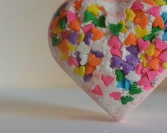 Heart Shaped Birthday Cake Bath Bomb
