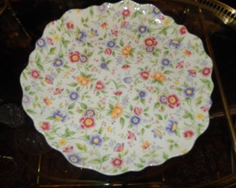 FLORAL CHINTZ PLATE