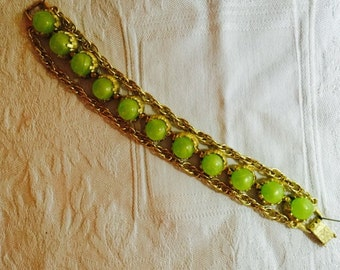 Citron colored thermaset link bracelet