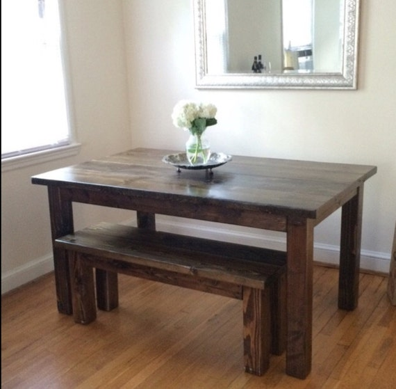 Farmhouse Dining Room Table W Bench