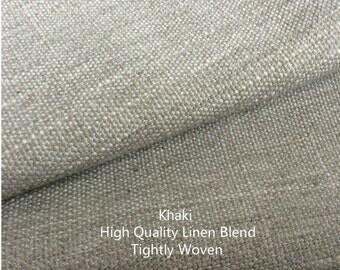 Khaki Curtain Panels, window curtain panels, linen curtains, custom curtains, custom drapes