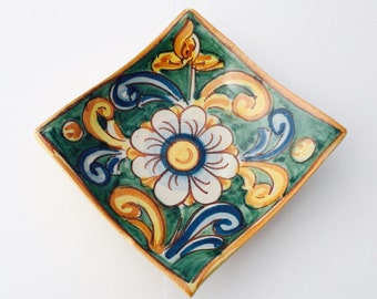 Italian ceramic dish for dips- pottery dish - condiment dish - soap holder