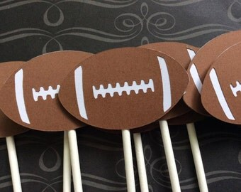 12 Are You Ready For some Football Cupcake toppers