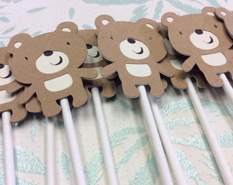 12 Adorable Teddy Bear Cupcake toppers