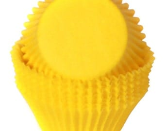 Yellow Cupcake Liners - 50 Count