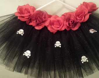Day of the Dead Tutu Skirt