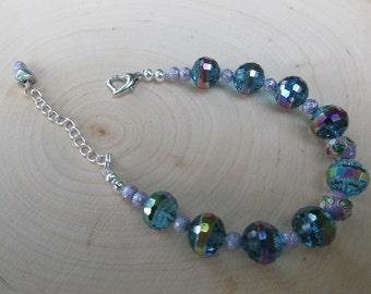 Iridescent Lavender Bracelet