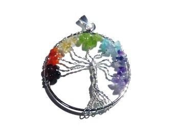 Seven Chakra Tree Locket