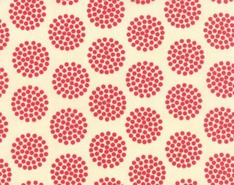 The Sweet Life Cheery Red Floral Dots > by Pat Sloan for Moda Fabrics < Half Yard off the Bolt USA