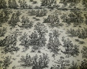 Jamestown Colonial Toile Printed Cotton Duck Upholstery Fabric