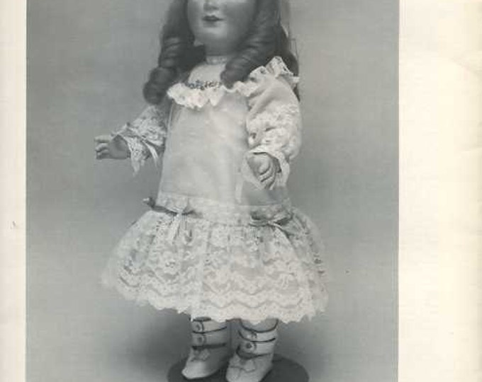 FREE usa SHIP Byron Doll Pattern 1980's 82 Schoenau Hoffmeister Princess Elizabeth Old Store Stock Sewing Pattern