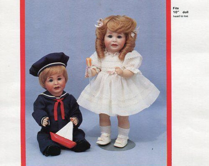 FREE usa SHIP Byron Doll Pattern 1980's BY-302 Dollie Davey Old Store Stock Sewing Pattern