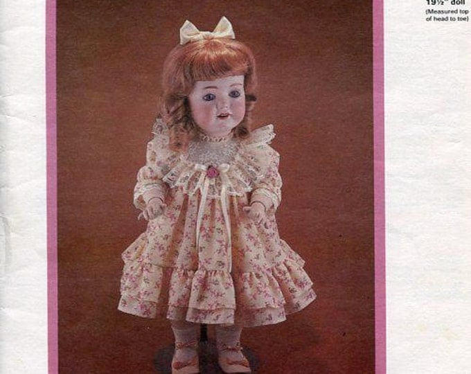 FREE US SHIP Byron Doll Pattern 1980's By-111 Lucy 19.5 New Old Store Stock Sewing Pattern