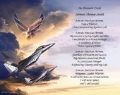 U.S. Air Force Airman's Creed Personalized Print
